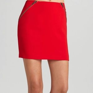 BCBG Red Mini Skirt